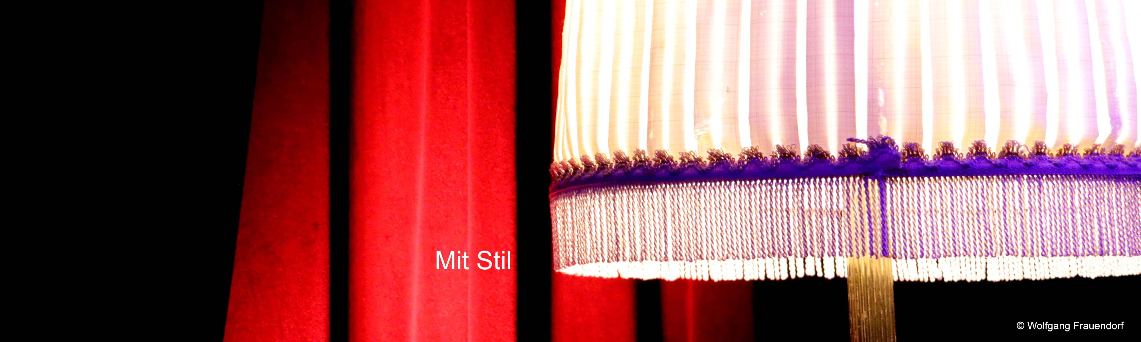 Bildsetzung Lampenschirm Symbolisiert mit Stil- Werbung Marketing