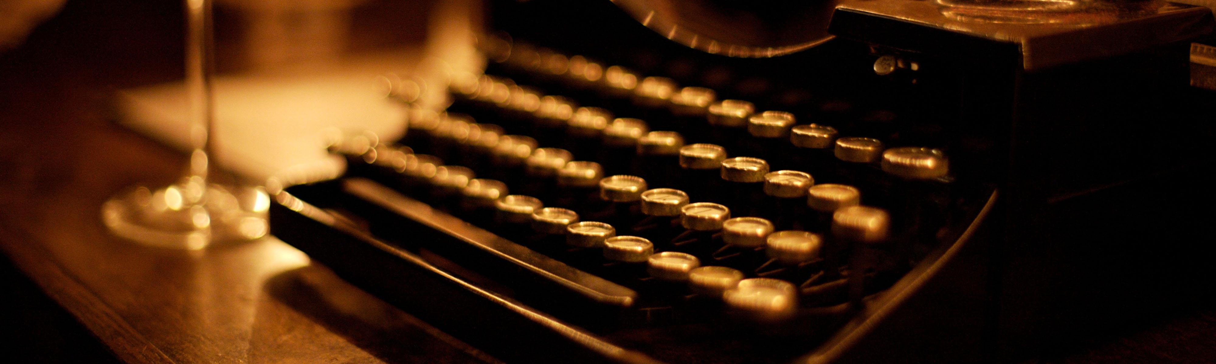 Slider Textarbeiten Schreibmaschine